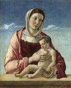 Giovanni Bellini - Madonna and Child - Madonna Frizzoni