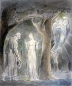 William Blake - Comus, Disguised as a Rustic, Addresses the Lady in the Wood