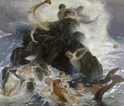 Arnold Bocklin - Mermaids at Play