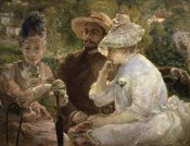 Marie Bracquemond - On the Terrace at Sevres