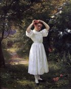 John George Brown - The Flower Girl