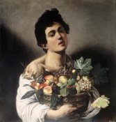Caravaggio - Young Boy with Basketful of Fruit