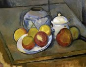 Paul Cezanne - Flawed Vase, Sugar Bowl and Apples