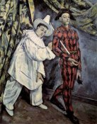 Paul Cezanne - Pierrot and Harlequin (Mardi Gras), 1888