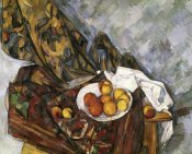 Paul Cezanne - Still Life with Floral Curtain