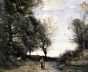 Jean-Baptiste-Camille Corot - Along the Path