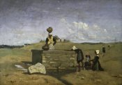 Jean-Baptiste-Camille Corot - Bretons at the Well