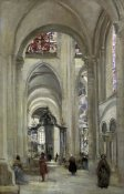 Jean-Baptiste-Camille Corot - Interior of the Sens Cathedral