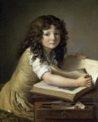 Anne Girodet de Roucy-Trioson - A Young Child Looking at Figures in a Book