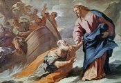 Luca Giordano - Jesus Holy Christ at the Sea