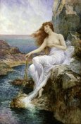 Alfred Augustus I Glendening - Sea Nymph Seated on a Rock with a Ribbon Seaweed