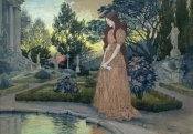Eugene Samuel Grasset - Young Lady in a Garden