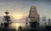 Fitz Hugh Lane - Boston Harbor, Sunset