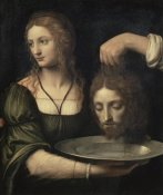 Bernardino Luini - Salome Receiving the Head of John the Baptist
