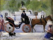 George Benjamin Luks - Central Park Carriage