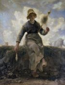 Jean-Francois Millet - The Spinner, Goat-Girl from the Auvergne