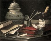 Cristoforo Monari - Still Life with Writing Accessories
