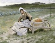 Charles Sprague Pearce - Brittany Farm Girl