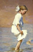 Edward Henry Potthast - Wading at the Shore