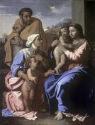 Nicolas Poussin - The Holy Family with John the Baptist & St. Elizabeth