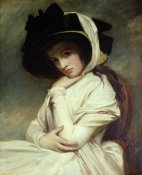 George Romney - Lady Hamilton in a Straw Hat