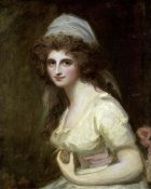 George Romney - Lady Hamilton in a White Turban