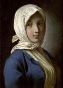 Pietro Antonio Rotari - A Girl in a Blue Jacket and White Headscarf