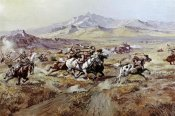 Charles M. Russell - Stagecoach Attack