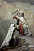 James Tissot - Moses Destroys the Tablets of the Ten Commandments