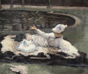 James Tissot - Mrs. Newton with a Child by a Pool