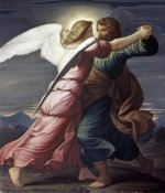 Edward Jakob von Steinle - Jacob Wrestles with an Angel