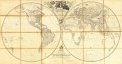 Aaron Arrowsmith - Map of the World, Researches of Capt. James Cook, 1808