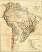 Aaron Arrowsmith - South America, 1814