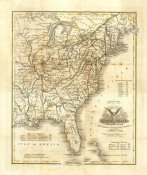 John Warner Barber - Map of The United States, 1845