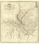 Lewis C. Beck - Map of the States of Illinois & Missouri, 1823