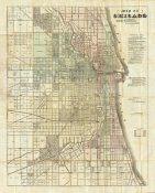 Rufus Blanchard - Map of Chicago, 1857