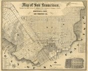 Britton and Rey - Map of San Francisco, 1852