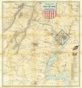 J. Goldsborough Bruff - Army Map of The Seat of War In Virginia, 1862