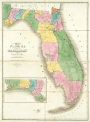 David H. Burr - Map of Florida, 1839