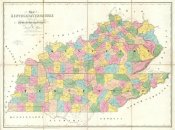 David H. Burr - Map of Kentucky & Tennessee, 1839