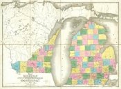 David H. Burr - Map of Michigan & Part of Wisconsin Territory, 1839