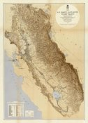 California Irrigation Commission - Map of The San Joaquin, Sacramento and Tulare Valleys, 1873