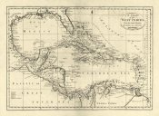 Mathew Carey - Chart of the West Indies, 1795