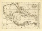 Mathew Carey - Chart of the West Indies, 1811