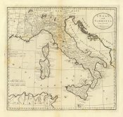 Mathew Carey - Italy and Sardinia, 1796