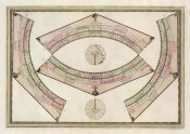 Giovanni Maria Cassini - Globo Terrestre (Ring Sheet), 1792