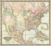 J. H. Colton - Map of The United States of America, 1848