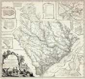James Cook - A Map of the Province of South Carolina, 1773