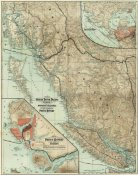 Grand Trunk Pacific Railway - Map of The Grand Trunk Pacific Railway In British Columbia, 1910