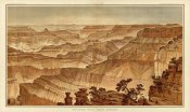 William Henry Holmes - Grand Canyon - Panorama from Point Sublime (Part III. Looking West), 1882